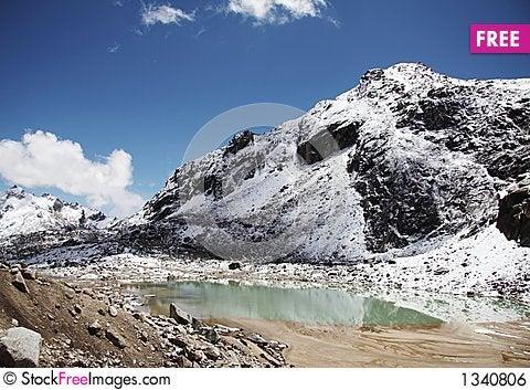 Mountain lake in the Cordilleras Stock Photo