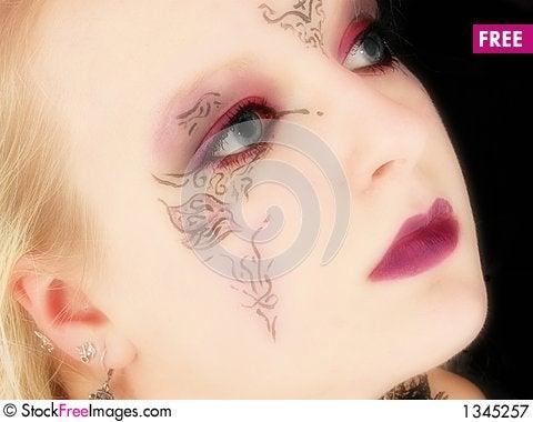 Beautiful German Goth Teen Girl Stock Photo