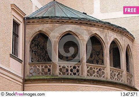 Castle Balcony. Stock Photo