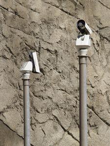 Free Surveillance Cameras Stock Images - 1340054