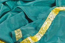 Green Satin Bordered Alpha Royalty Free Stock Photo