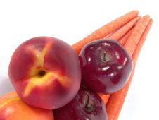 Free Healthy Vegetables And Fruits Royalty Free Stock Photography - 1341107