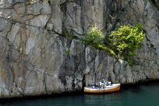 Free Boat In Fjord Stock Photography - 1341472