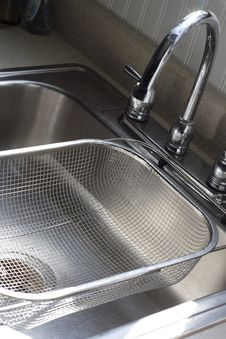 Sink And Strainer Stock Photos