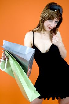 Shopping Craze Stock Image