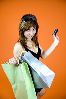 Free Shopping Craze Royalty Free Stock Photos - 1341958