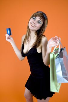 Free Shopping Craze Royalty Free Stock Photography - 1341967