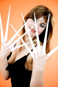 Scissor Fingers Royalty Free Stock Photography