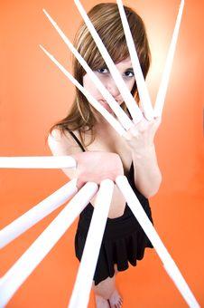 Free Scissor Fingers Stock Photography - 1342132