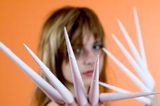 Scissor Fingers Stock Photography
