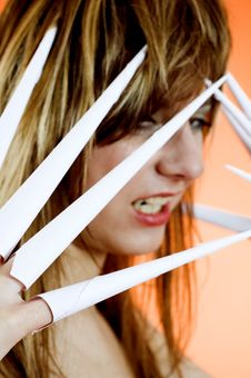 Scissor Fingers Stock Image