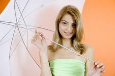 Free Blond And Umbrella Royalty Free Stock Photos - 1342738