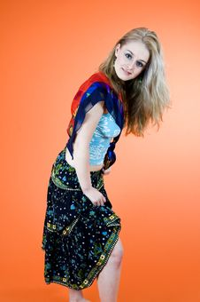 Free Blond Dancer Stock Image - 1343251