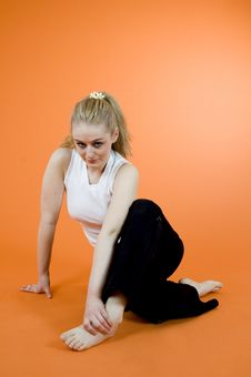 Free Exercising Blond Stock Photography - 1343522