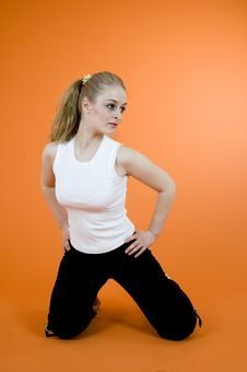 Free Exercising Blond Stock Photos - 1343533