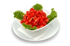 Free Tomato Salad With Lettuce Stock Photography - 1343942