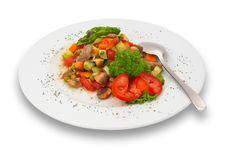Free Mixed Vegetable/mushroom Salad. Isolated. Royalty Free Stock Images - 1343949