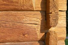 Free Logs In The Wall Royalty Free Stock Photography - 1344417