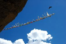 Free Prayer Flags In Tibetan Monastry Royalty Free Stock Images - 1344469