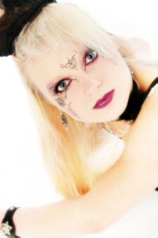 Beautiful German Goth Teen Girl Stock Photos