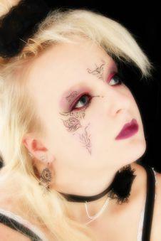Free Beautiful German Goth Teen Girl Stock Image - 1345251