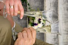 Drinking Champagne Royalty Free Stock Image