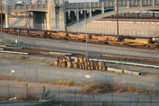 Free Los Angeles Rail Yard 2 Royalty Free Stock Photos - 1345698