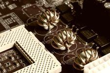 Motherboard - Processor Socket Stock Image