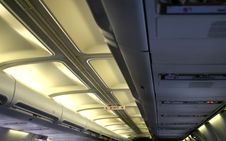 Inside Of An Airplane , Ceilin Royalty Free Stock Photography