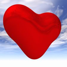 Free Shiny Heart Against Sky Royalty Free Stock Image - 1347526