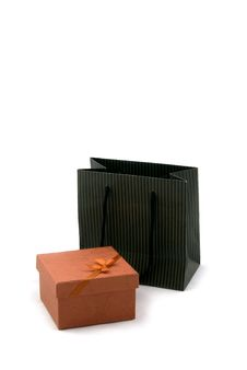 Shopping Bag And Gift Box Royalty Free Stock Photo