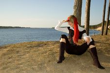 Free Pirate Girl Royalty Free Stock Photography - 1349307