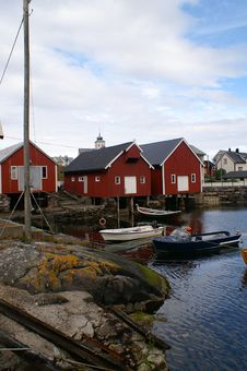 Free Fishing Village In Norway Royalty Free Stock Photo - 1349325