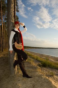 Free Pirate Girl Royalty Free Stock Photography - 1349367