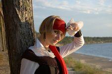 Free Pirate Girl Royalty Free Stock Photo - 1349375