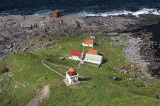 Free Lighthouse At The Island Runde, Norway Stock Photo - 1349400
