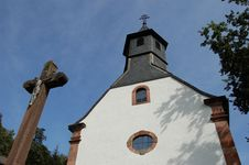 Free Old German Church And Crucifix Stock Images - 1349674