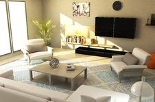 Free Living Room, Property, Room, Interior Design Royalty Free Stock Image - 134005326
