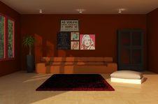 Free Room, Interior Design, Wall, Living Room Stock Image - 134005371
