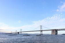 Free Bridge, Suspension Bridge, Fixed Link, Cable Stayed Bridge Stock Photos - 134006013