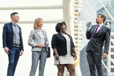 Free Photo Of Four People Standing Outdoors Stock Images - 134071664