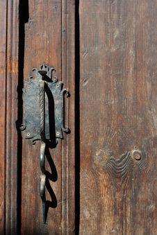 Free Wood, Wood Stain, Door, Door Knocker Stock Photo - 134103690