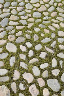Free Grass, Cobblestone, Road Surface, Pattern Stock Photo - 134105180