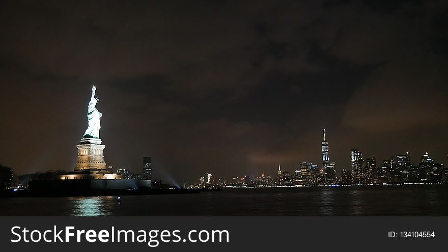 Skyline, Cityscape, Night, City