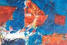 Free Photo Of Abstract Painting On Canvas Royalty Free Stock Photo - 134169995