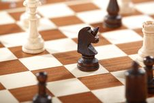 Free Horse Chest Piece On Chess Board Royalty Free Stock Photo - 134249725