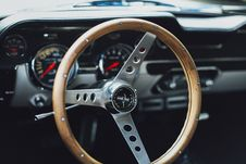 Free Close-up Photo Of Classic Ford Mustang Interior Stock Photography - 134249932