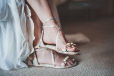 Free Close-Up Photo Of Woman Wearing Flat Sandals Stock Photo - 134249960