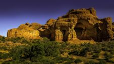 Free The Double Arch Rock Formation In Utah Stock Photo - 134249980