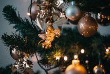 Free Shallow Focus Photo Of Cherub Hanged On Christmas Tree Stock Photography - 134421332